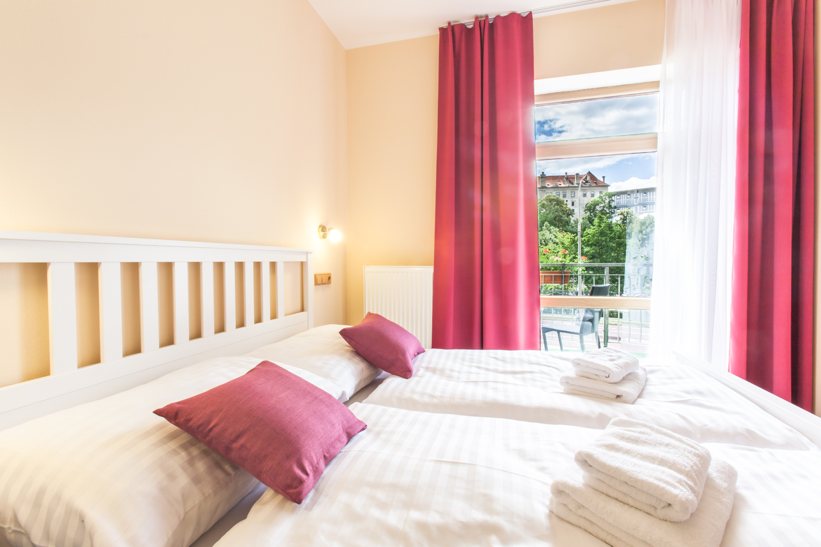 Double bed apartment with balcony